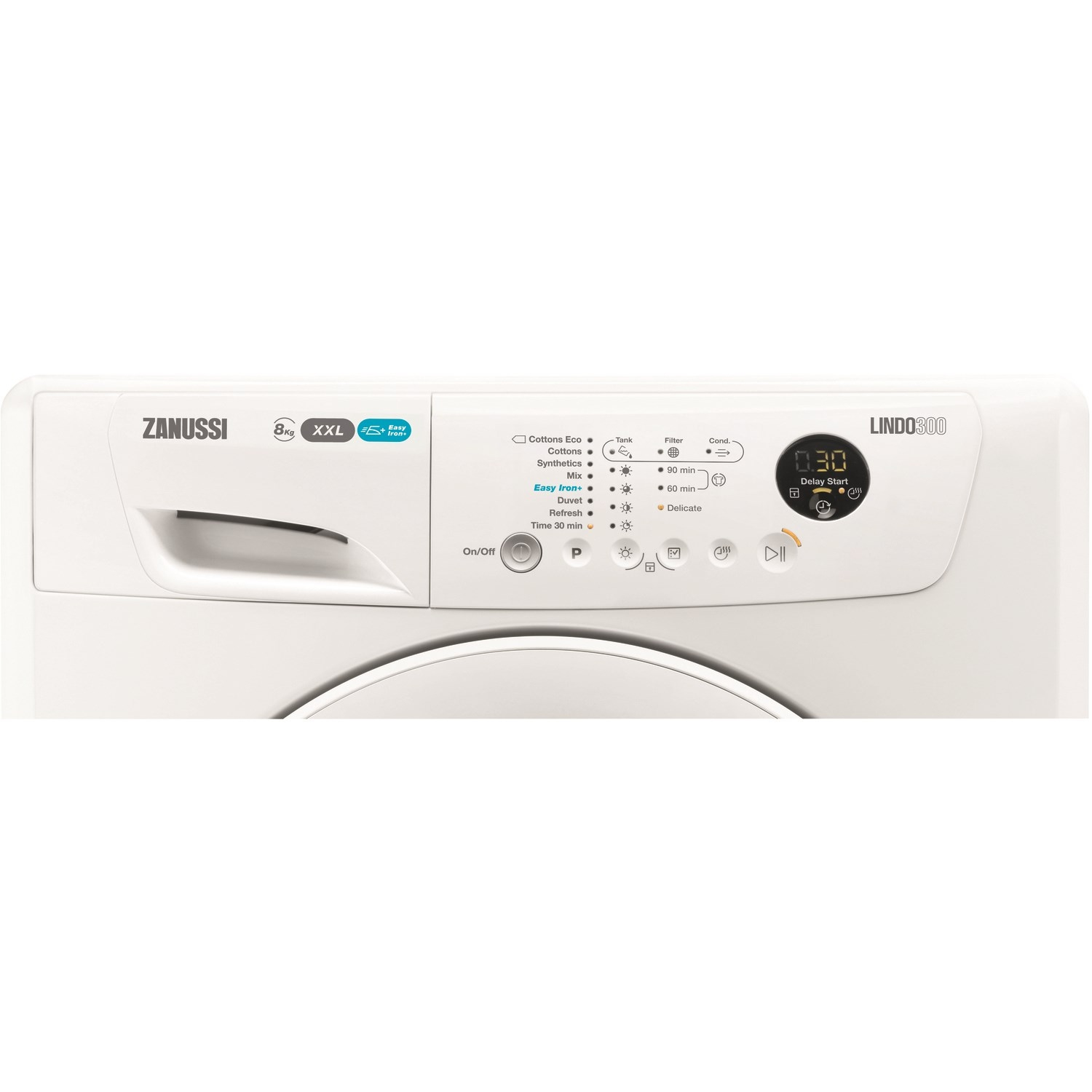 ZANUSSI 8 kg Condenser Tumble Dryer - White - 1