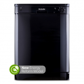 Montpellier DW1255K 60cm Freestanding Dishwasher in Black