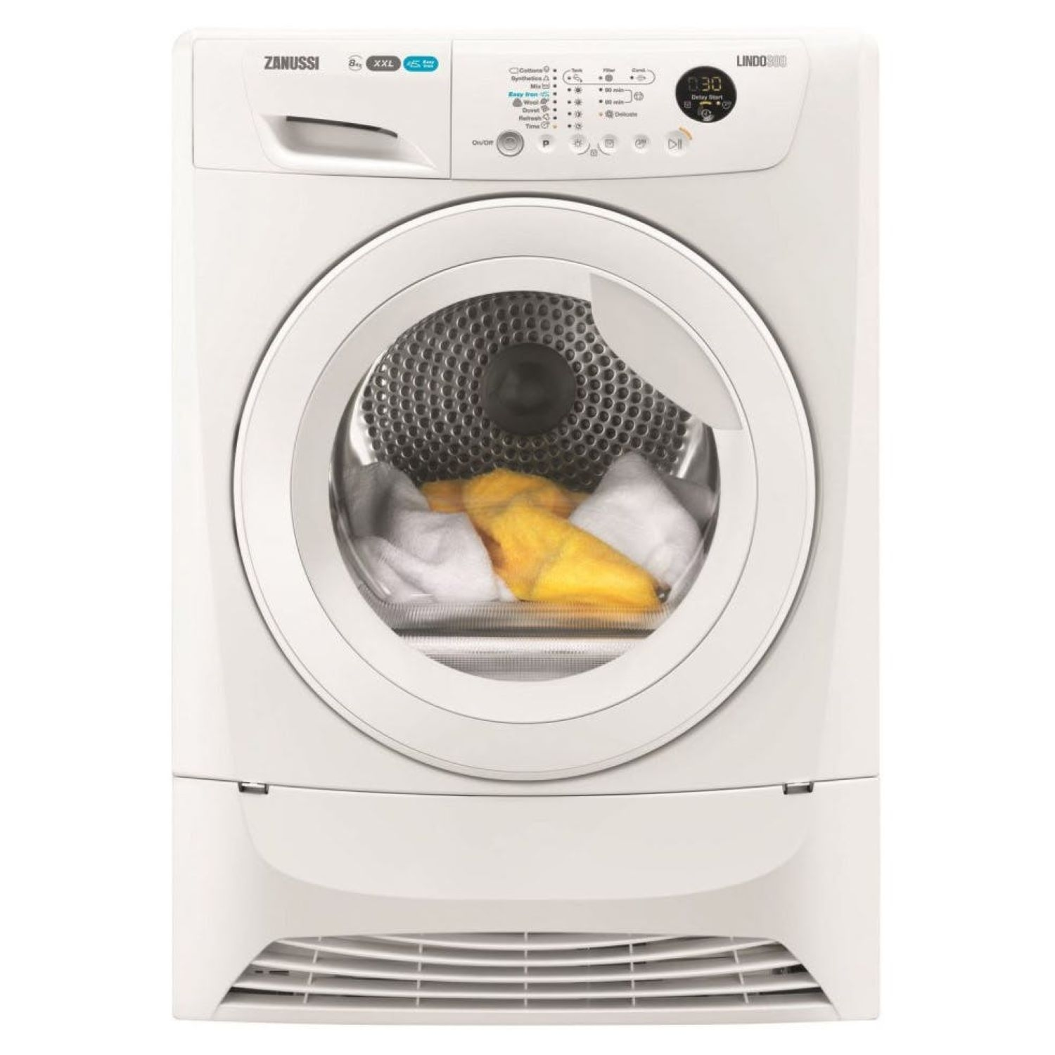 ZANUSSI 8 kg Condenser Tumble Dryer - White - 0
